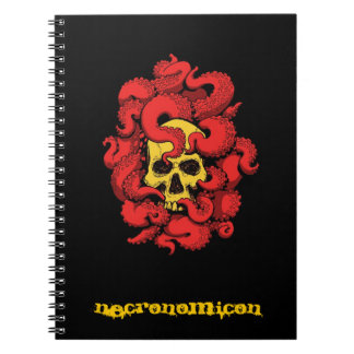 Necronomicon Notebook with Skull and Tentacles