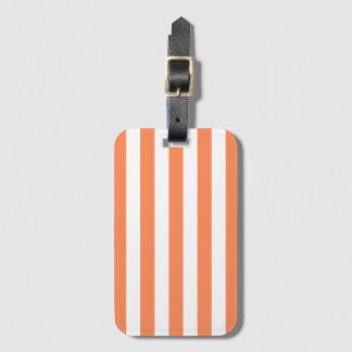 Nectarine Orange Stripe Pattern Baggage Labels Bag Tag