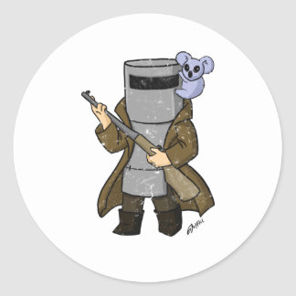 ned kelly distressed classic round sticker