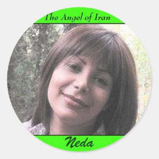 NEDA SOLTANI, The Angel of Iran, Neda Classic Round Sticker
