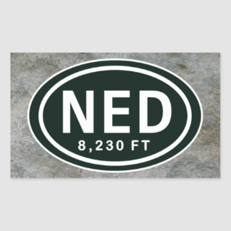 Nederland CO 8,230 FT Elevation NED Stickers