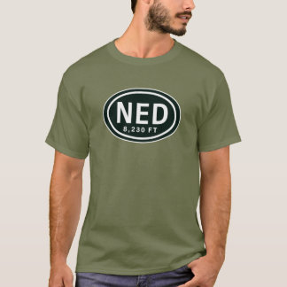 Nederland Colorado 8,230 FT EL Rocky Mountain NED T-Shirt