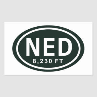 Nederland Colorado 8,230 FT NED Rocky Mountain Sticker