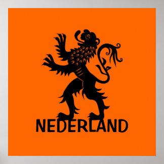 Nederland Lion Poster