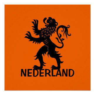 Nederland Lion Print