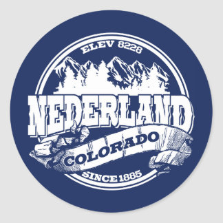 Nederland Old Circle Blue Classic Round Sticker