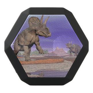 Nedoceratops/diceratops dinosaurs in nature black bluetooth speaker