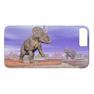 Nedoceratops/diceratops dinosaurs in nature iPhone 8 plus/7 plus case