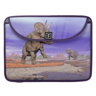 Nedoceratops/diceratops dinosaurs in nature sleeve for MacBooks