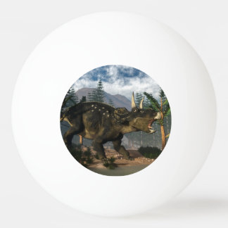 Nedoceratops roaring while running - 3D render Ping Pong Ball