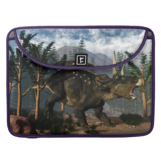 Nedoceratops roaring while running - 3D render Sleeve For MacBook Pro