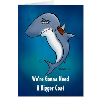 Need A Bigger Coat Shark Blank Inside Card