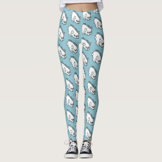 Need a break, the cute Frenchie wants a nap Leggings