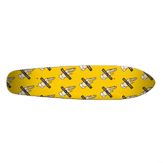 NEED A HAND? (Yellow) Skate Deck