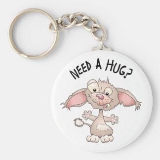 Need a Hug Basic Round Button Keychain