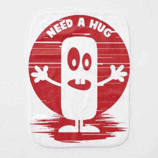 Need a hug burp cloth