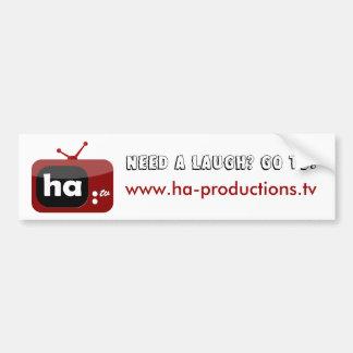 Need a Laugh? Ha-TV Bumper Sticker