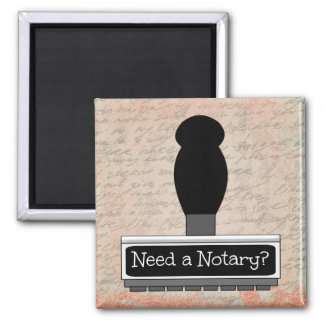 Need a Notary Rubber Stamp over Handwritten Text Magnet