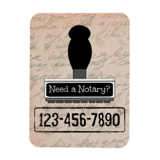 Need a Notary Rubber Stamp with Phone Number Magnet
