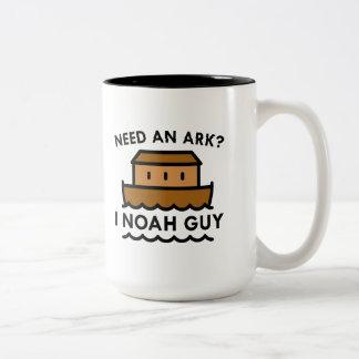 Need An Ark? I Noah Guy. Two-Tone Coffee Mug