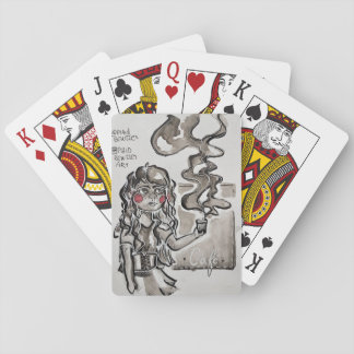 Need café. playing cards