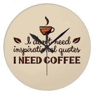 Need Coffee Clock