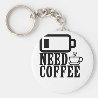 Need Coffee LOW BATTERY . Keychain