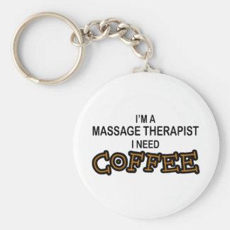 Need Coffee - Massage Therapist Key Chains