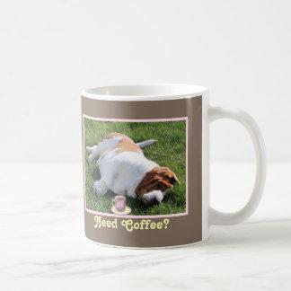 """Need Coffee"" Mug w/""Coffee Cup"" & ""Sleepy Basset"""