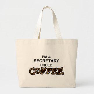 Need Coffee - Secretary Canvas Bags