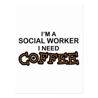 Need Coffee - Social Worker Postcard