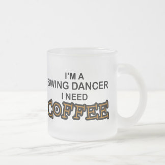 Need Coffee - Swing Dancer Frosted Glass Coffee Mug