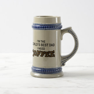Need Coffee - World's Greatest Dad Beer Stein