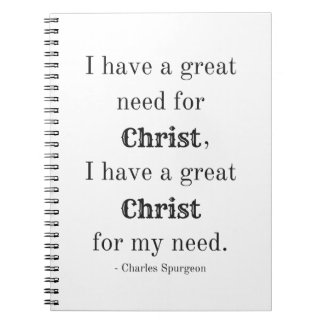 Need for Christ Spiral Notebook