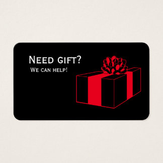 need gift we can help business card