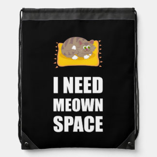 Need Meown Space Cat Drawstring Bag