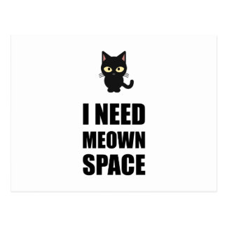 Need Meown Space Cat Postcard