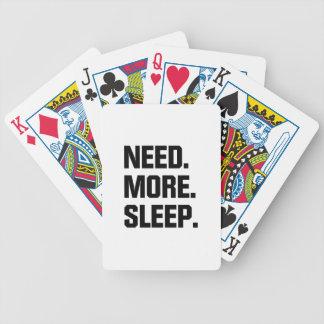 Need More Sleep Bicycle Playing Cards