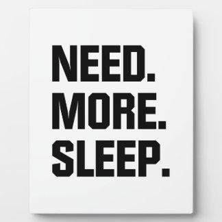 Need More Sleep Plaque