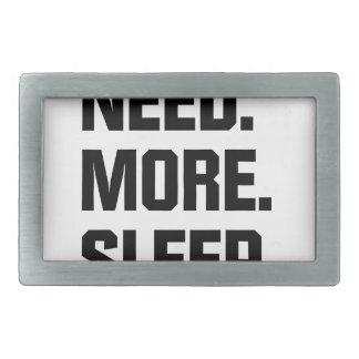 Need More Sleep Rectangular Belt Buckles