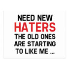 Need New Haters Postcard