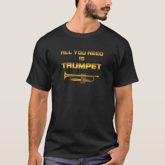 Need trumpet gold color T-Shirt