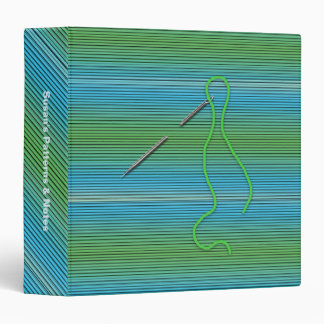 Needle and Thread Notebook Binder (Blue/Green)