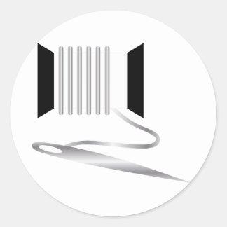 Needle and Thread Round Sticker