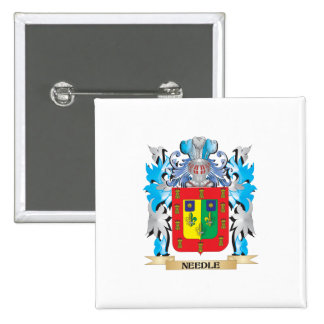 Needle Coat of Arms - Family Crest Pinback Buttons