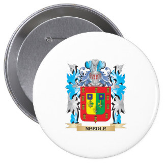 Needle Coat of Arms - Family Crest Pinback Button