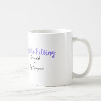 needle felting stress relief + anger management classic white coffee mug