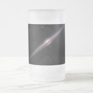 Needle Galaxy NGC 4565 edge-on spiral galaxy 16 Oz Frosted Glass Beer Mug
