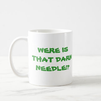 Needle In A Haystack Classic White Coffee Mug