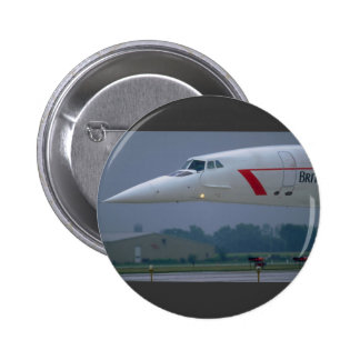 Needle nose of a British Airways Concorde Button